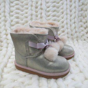 New UGG Gita Bootie Gold Girls Boots Size 1